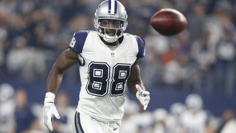 Dez Bryant -- UNDER receptions (5) and receiving yards (67.5)