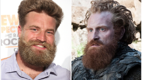 Ryan Fitzpatrick (Jets) and Kristofer Hivju (aka Tormund)