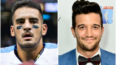 Marcus Mariota (Titans) and Mark Ballas