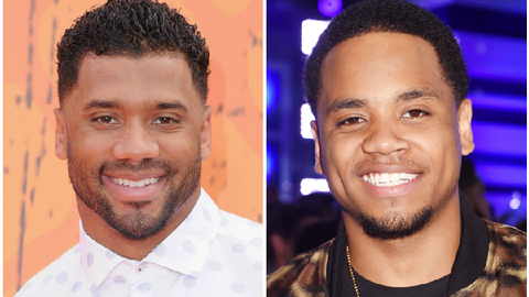 Russell Wilson (Seahawks) and Tristan Wilds