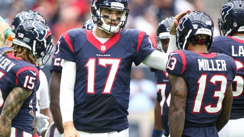 Brock Osweiler and the Texans offense won't keep pace