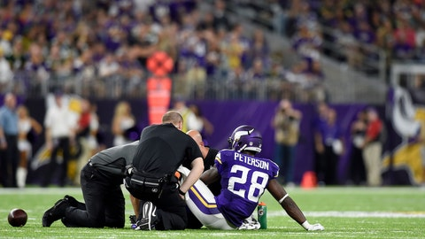Vikings coach Mike Zimmer, on Adrian Peterson's injury