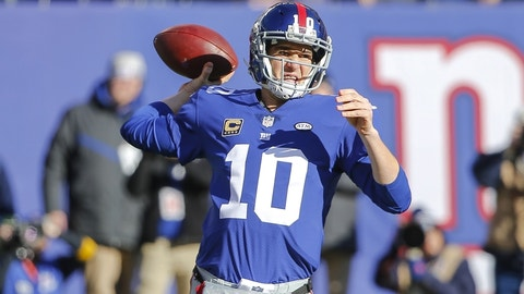 New York Giants: Eli Manning, QB, age 35