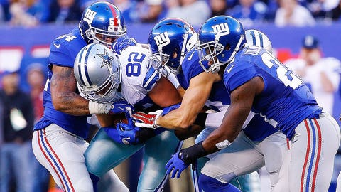 Let's go to the NFC East clash between the Cowboys and Giants for the the first of this six-pack