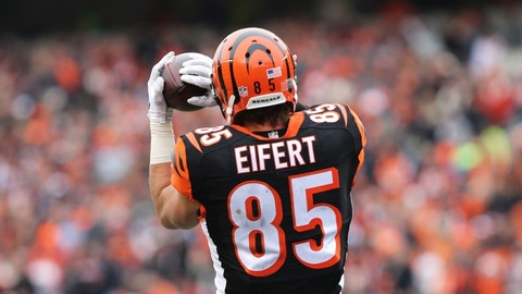 Tyler Eifert, TE, Bengals (ankle)