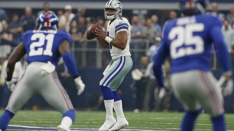 Cowboys start season against the Giants for the third straight year