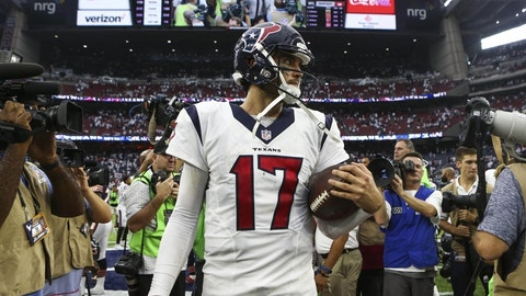 Houston Texans: Brock Osweiler proves to be a career backup