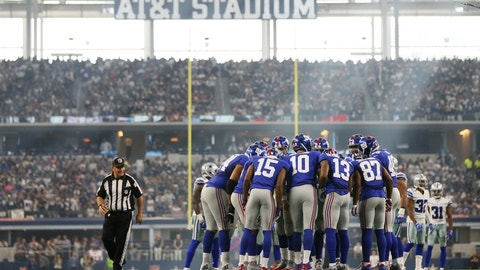 September 10: New York Giants at Dallas Cowboys, 8:30 p.m. ET