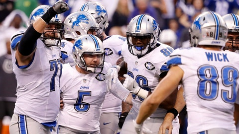 Lions coach Jim Caldwell praises his kicker's resiliency