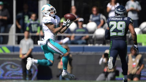 Dolphins receiver Kenny Stills drops a sure-thing touchdown