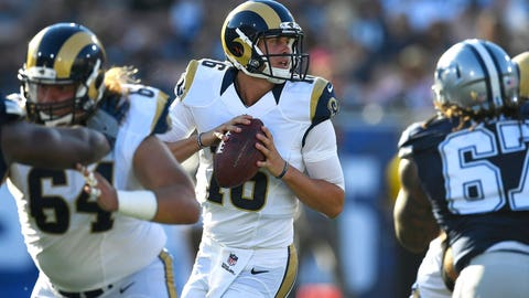 Jared Goff will start at least five games for the Rams