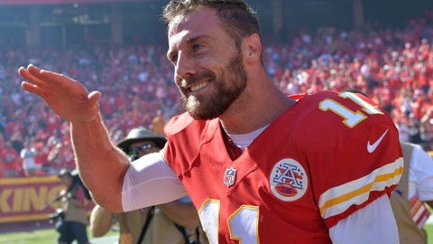 Chiefs QB Alex Smith -- owned in 29.6% of leagues