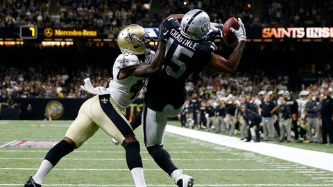 The Raiders light up the New Orleans Saints defense