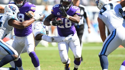 Running lanes will open for Adrian Peterson