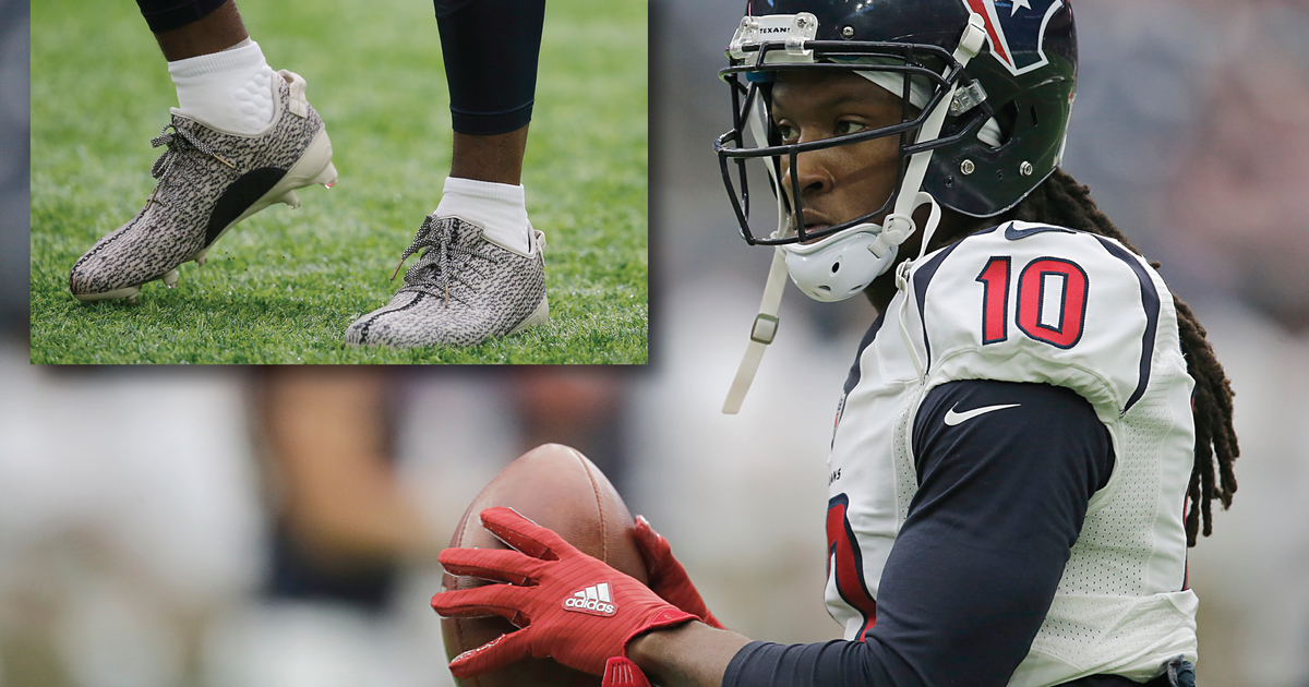 DeAndre Hopkins claims NFL fined him for wearing Kanye West s Yeezy cleats   e74be4ddf