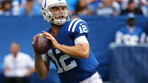 Andrew Luck -- OVER passing yards (265.5)