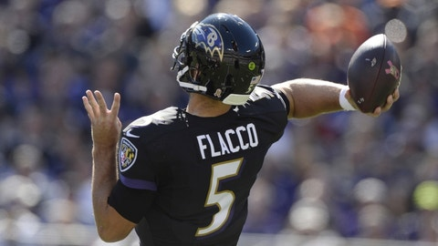 Baltimore Ravens: Joe Flacco's play