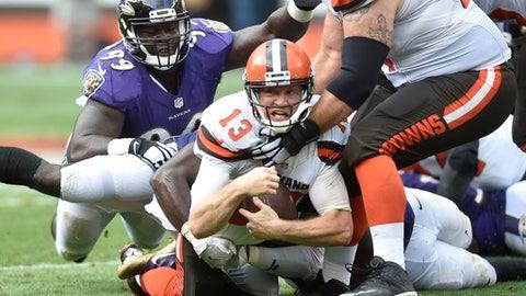 Josh McCown, QB, Browns (shoulder)