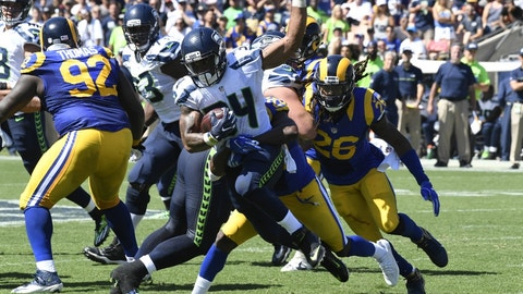 Thomas Rawls and the Seahawks offensive line go backwards