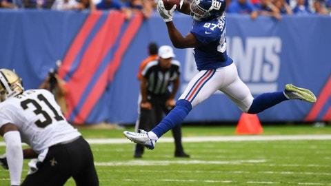 Sterling Shepard, WR, Giants (8th last week)