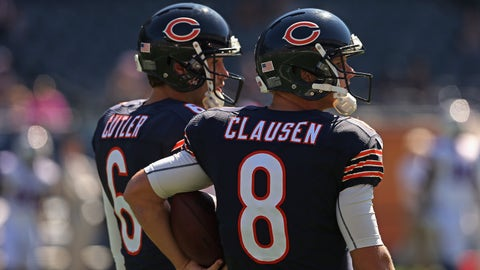 Benched for Jimmy Clausen