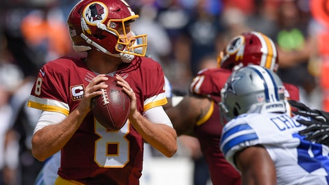 Redskins QB Kirk Cousins is not looking the part of a franchise player