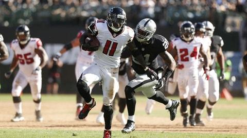 Julio Jones, WR, Falcons (lower leg): Questionable