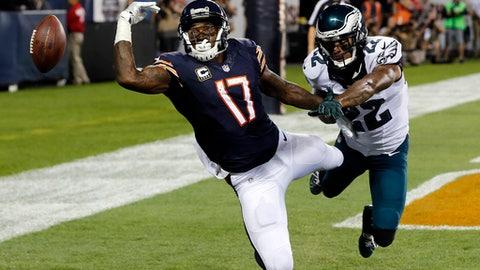 Alshon Jeffery, WR, Bears (knee): Questionable