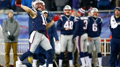 The Patriots could win with WR Julian Edelman at quarterback