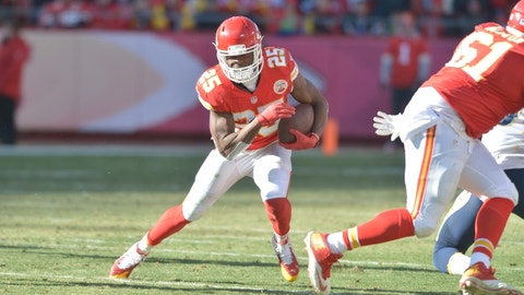Jamaal Charles, RB, Chiefs (knee): Doubtful