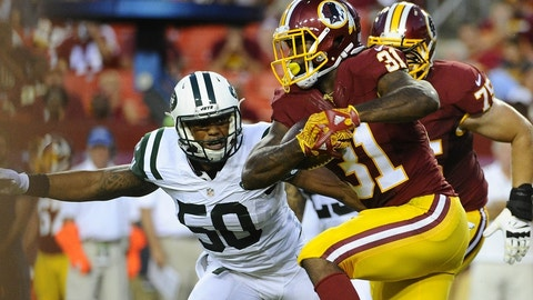 9. Redskins-Jets: 2,000/1