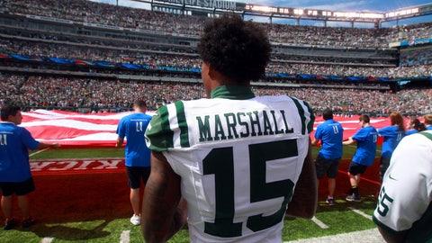Brandon Marshall, WR, Jets (knee): Active