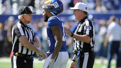 Odell Beckham was told he'd be tossed