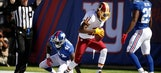 Under-fire Cousins helps Redskins beat Giants for first win