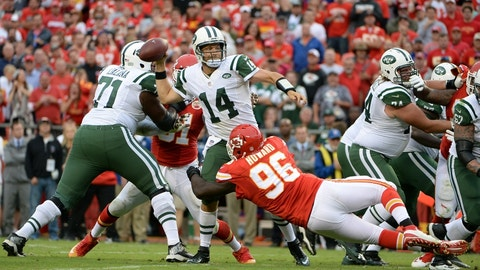 Jets QB Ryan Fitzpatrick throws 6 interceptions in an abysmal showing at Arrowhead