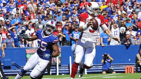 Carson Palmer tosses four picks at Buffalo -- in the fourth quarter