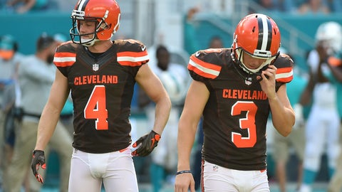 Cleveland Browns kicker Cody Parkey can't get right