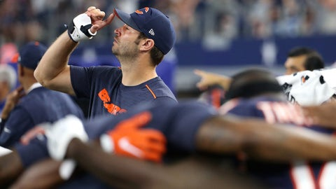Bears coach John Fox, on Jay Cutler's job security as starter