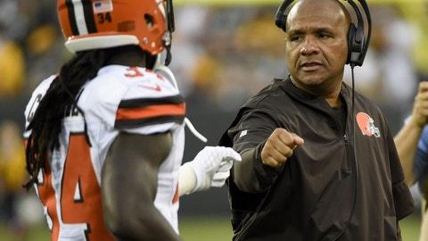 Browns (+8) over REDSKINS (Over/under: 46)
