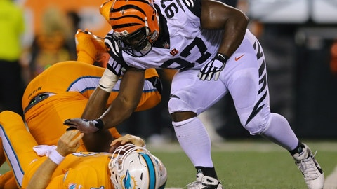 Geno Atkins will wreak havoc with Justin Pugh out