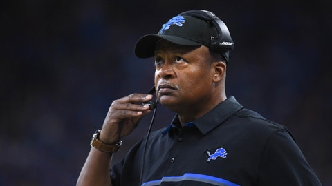 Wearing a winter jacket in the summer: Jim Caldwell, Detroit Lions (4-4)