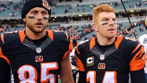 Tyler Eifert, TE, Bengals (back): Out