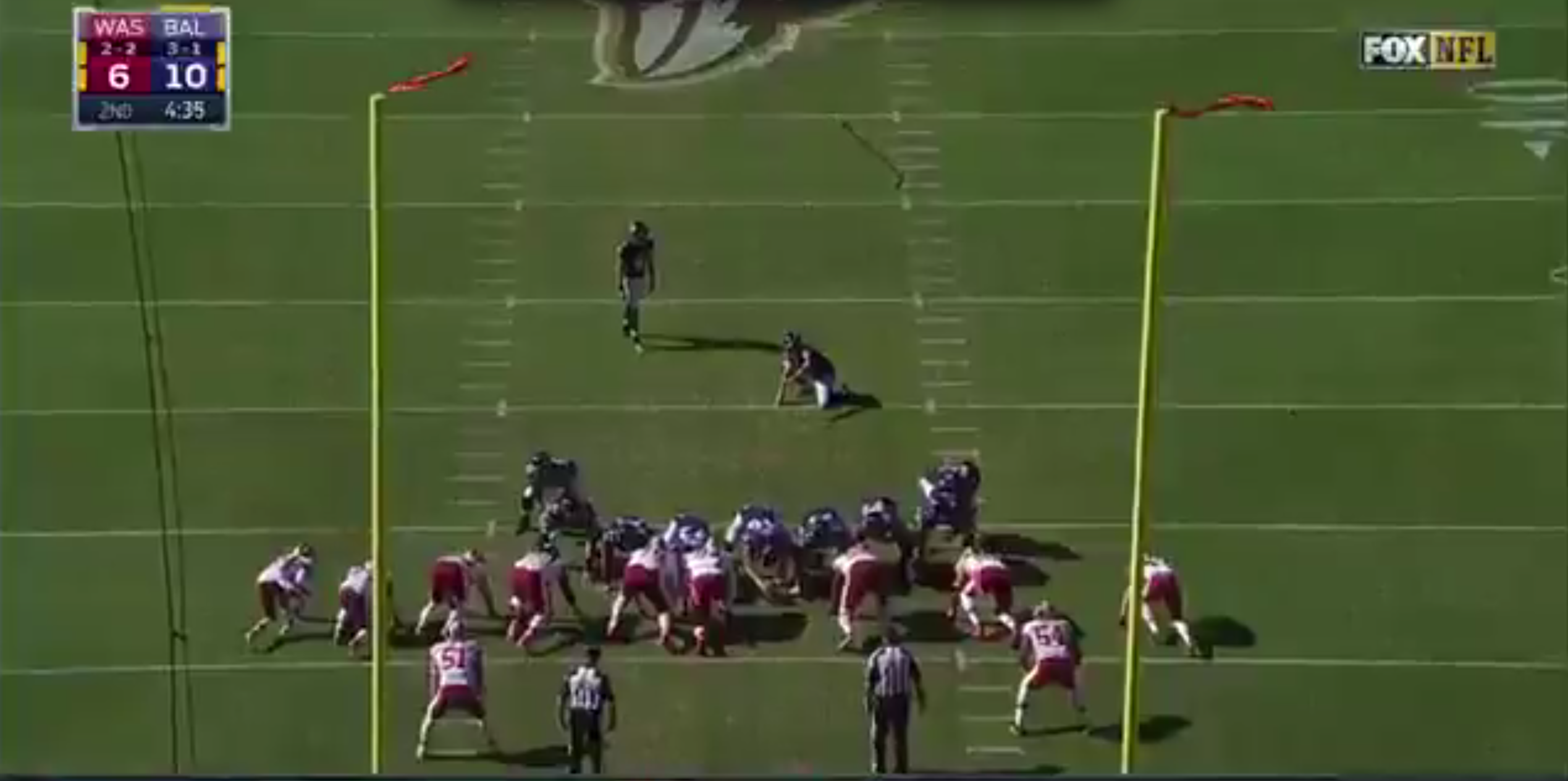 6649c91c5a1 Watch the Ravens fail to convert the most obvious fake field goal of ...