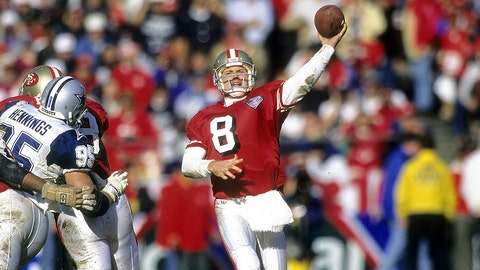 Steve Young had as many touchdown passes in 1993 as Montana had in two years with the Chiefs