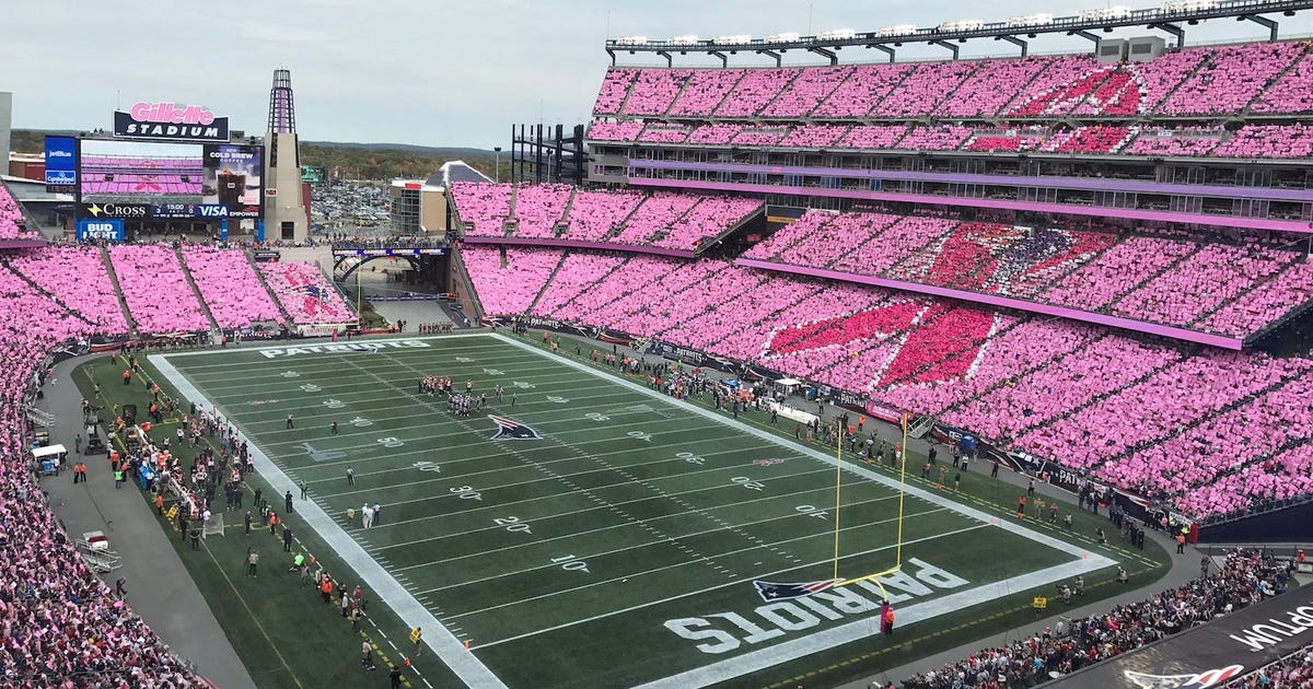 Patriots raise breast cancer awareness with incredible ...