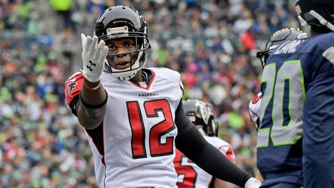 Mohamed Sanu, WR, Falcons (groin): Out