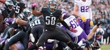 The Philadelphia Eagles' defense shines in upset victory over the Minnesota Vikings