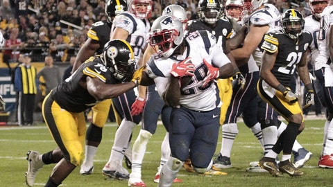 LeGarrette Blount and the running game of the Pats