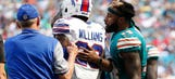 Dolphins' Jarvis Landry won't change his mentality after vicious block on Aaron Williams