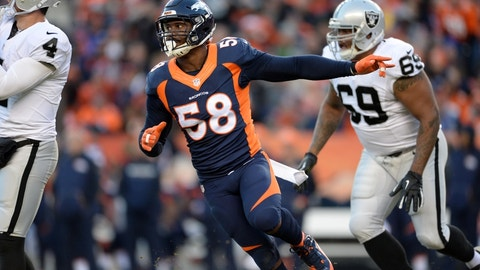 BRONCOS (-1) over Raiders (Over/under: 40)